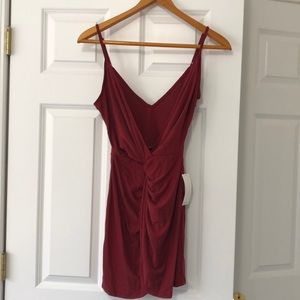 NWT Tobi Red Mini Strappy Dress